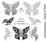 set of decorative butterflies... | Shutterstock .eps vector #263217965