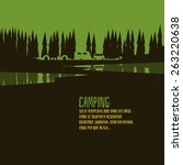 camping green forest style   Shutterstock .eps vector #263220638