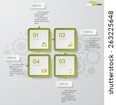 4 steps chart template graphic... | Shutterstock .eps vector #263225648