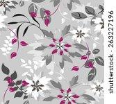 seamples flower illustration ... | Shutterstock .eps vector #263227196