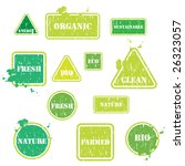 set of 12 organic eco growing... | Shutterstock .eps vector #26323057