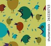vector background with birds... | Shutterstock .eps vector #263230715