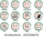 vector drawing cartoon... | Shutterstock .eps vector #263236676