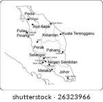 peninsular malaysia - stock vector