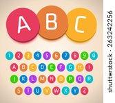 3d colorful alphabet. vector... | Shutterstock .eps vector #263242256