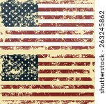 old scratched flag. vector... | Shutterstock .eps vector #263245862