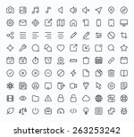 outline vector icons for web... | Shutterstock .eps vector #263253242