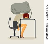 Concept Of Stress Businesswoma...
