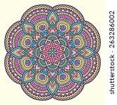 mandala. ethnic decorative... | Shutterstock .eps vector #263286002