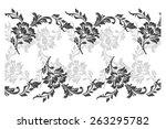 rose motif pattern for design ... | Shutterstock .eps vector #263295782