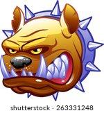 bulldog head | Shutterstock .eps vector #263331248