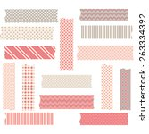 washi tape graphics set | Shutterstock .eps vector #263334392