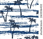 seamless pattern with sea and... | Shutterstock .eps vector #263336432
