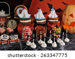 a variety of sweets on the... | Shutterstock . vector #263347775