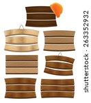 stock vector wood banners. set... | Shutterstock .eps vector #263352932