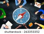 Stock photo conpass longtitude latitude navigation direction adventure concept 263353352