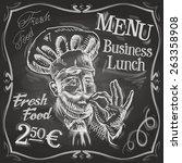 restaurant vector logo design... | Shutterstock .eps vector #263358908