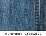 jeans texture with seams   Shutterstock . vector #263362832