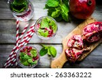detox water   Shutterstock . vector #263363222