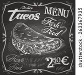 tacos vector logo design... | Shutterstock .eps vector #263367935
