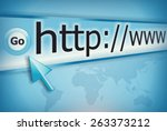 cursor pointing at http www... | Shutterstock . vector #263373212