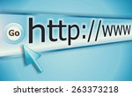 cursor pointing at http www... | Shutterstock . vector #263373218