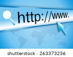 cursor pointing at http www...   Shutterstock . vector #263373236