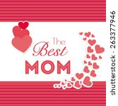 happy mothers day card design ... | Shutterstock .eps vector #263377946