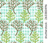 watercolor seamless pattern... | Shutterstock .eps vector #263383496