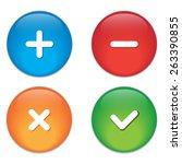 permission buttons set  vector... | Shutterstock .eps vector #263390855