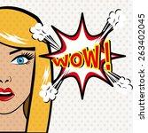 comic pop art colorful design ... | Shutterstock .eps vector #263402045