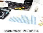 analyzing business investment... | Shutterstock . vector #263404616