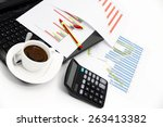analyzing business investment... | Shutterstock . vector #263413382