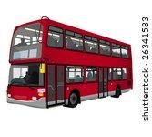 a london double decker bus | Shutterstock .eps vector #26341583