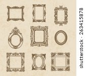 vector vintage hand drawn set...   Shutterstock .eps vector #263415878
