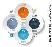modern circle infographics for... | Shutterstock .eps vector #263420072
