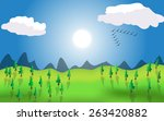 illustration of a beautiful... | Shutterstock . vector #263420882