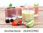drink smoothies summer... | Shutterstock . vector #263422982