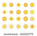 sun icon set  vector... | Shutterstock .eps vector #263425775