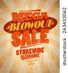 mega blowout sale design in... | Shutterstock .eps vector #263433062