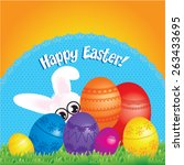 happy easter vector... | Shutterstock .eps vector #263433695