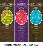 greetings web banner for easter ... | Shutterstock .eps vector #263435462