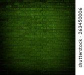 Green Brick Wall With Dim Ligh...