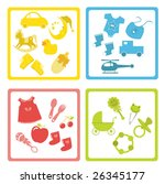 collection of  baby element... | Shutterstock .eps vector #26345177