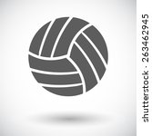 volleyball. single flat icon on ... | Shutterstock .eps vector #263462945