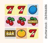 casino slot machine theme... | Shutterstock . vector #263466686