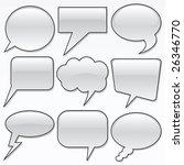 dialog bubbles | Shutterstock .eps vector #26346770