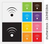 wireless network icon  in flat... | Shutterstock .eps vector #263481866