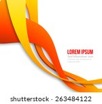 vector abstract curved lines...   Shutterstock .eps vector #263484122