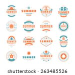 summer holidays design elements ... | Shutterstock .eps vector #263485526